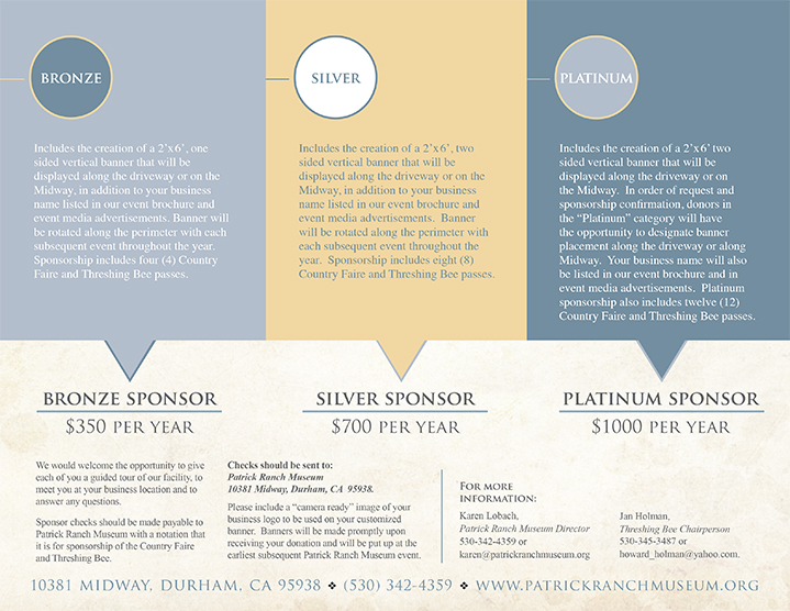 Patrick Ranch Sponsorship Brochure page 2