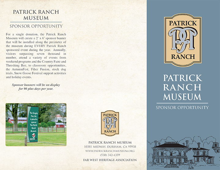 Patrick Ranch Sponsorship Brochure page 1